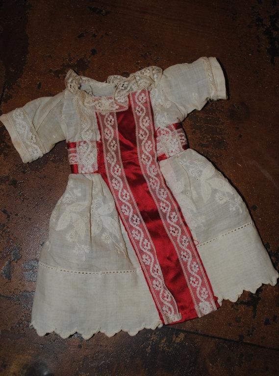 Antico abito bambola francese