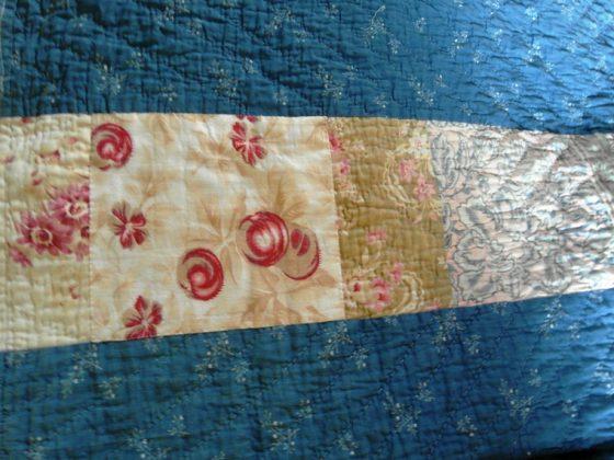 Victorian Durham quilt roses patch