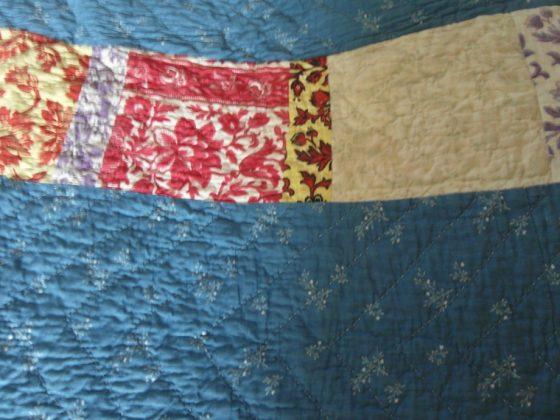 Victorian Durham quilt stripes