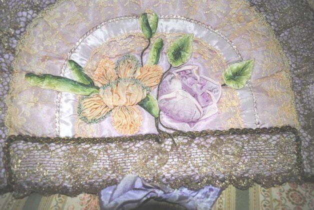Ribbonwork pijama case ribbon roses