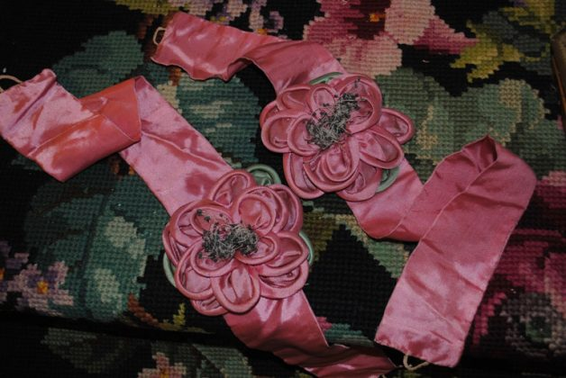 Ribbonwork roses embrasse
