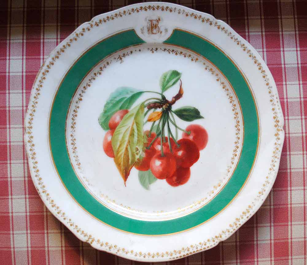 Vieux Paris plate cherries