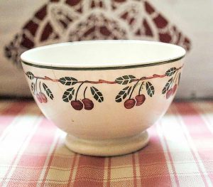 Small bowl stencil cherries