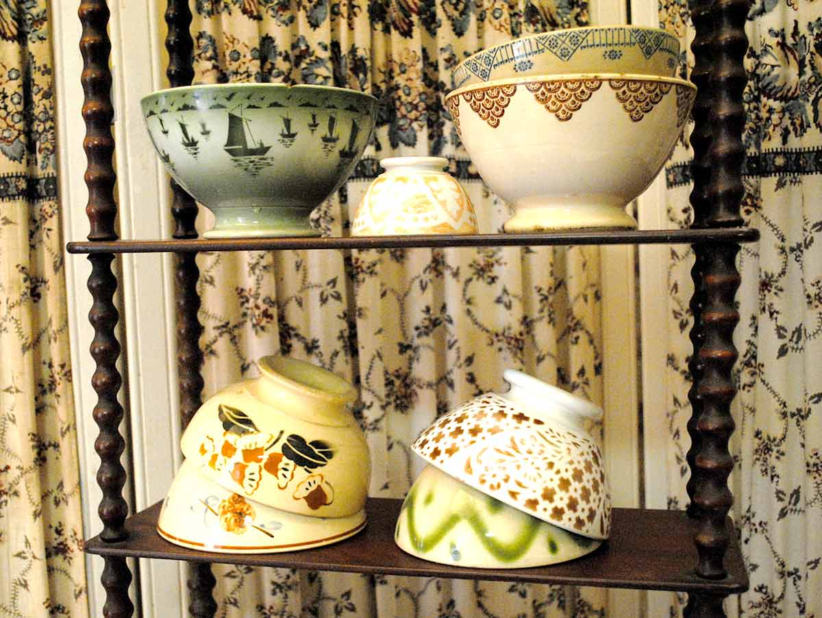 French bowls tones of green & brown