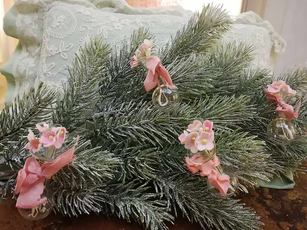 Tussie mussie vases Xmas tree
