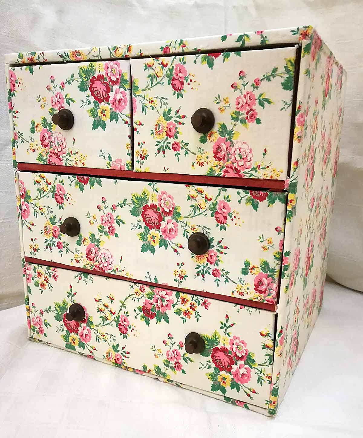 Antique french textile drawers