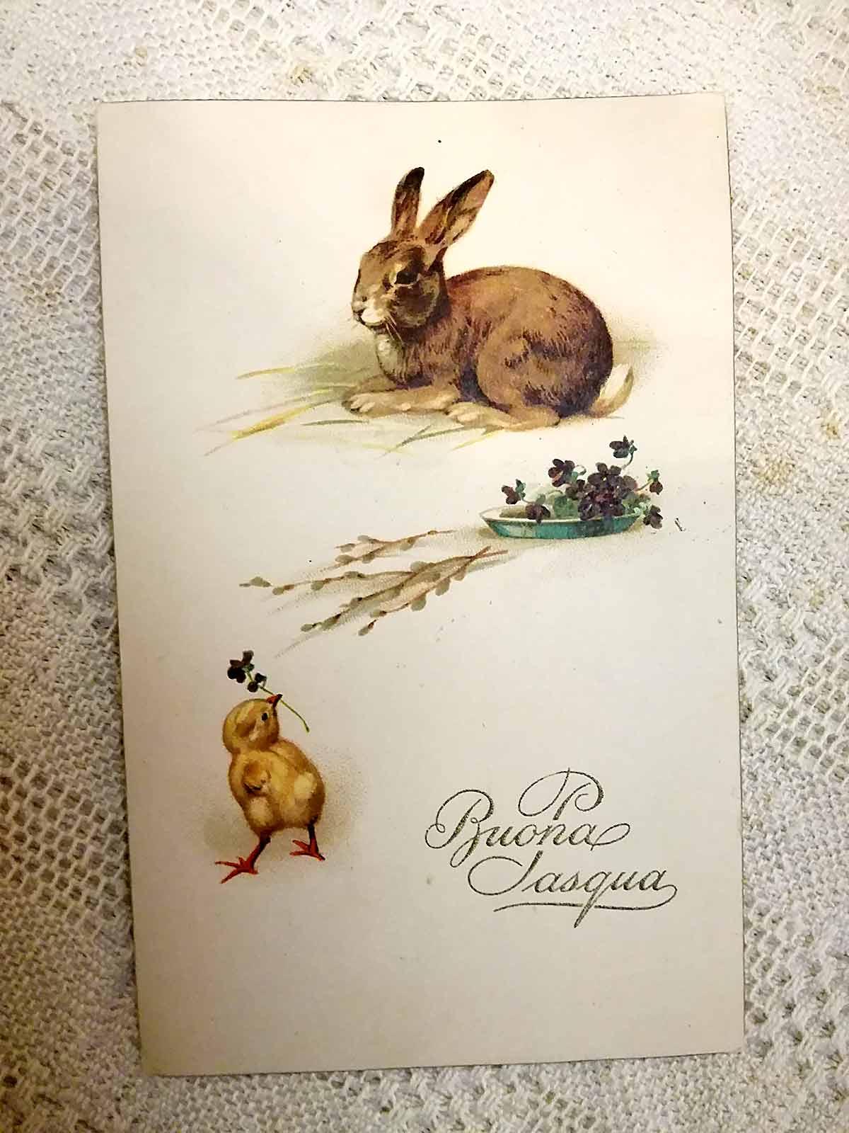 Antique Buona Pasqua postcard