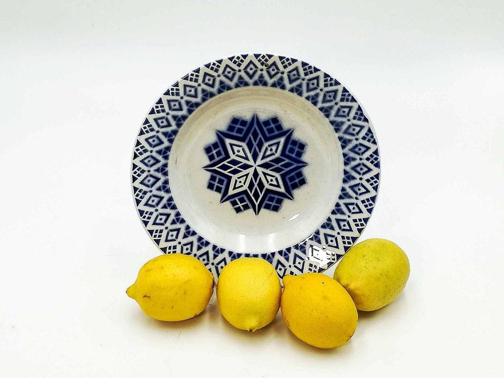 Piatto francese antico Digoin Sarreguemines